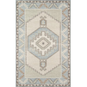 Anatolia Medallion Light Blue Runner: 2 Ft. 3 In. x 7 Ft. 6 In.