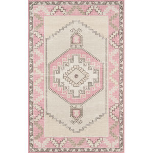 Anatolia Medallion Pink Rectangular: 9 Ft. 9 In. x 12 Ft. 6 In. Rug