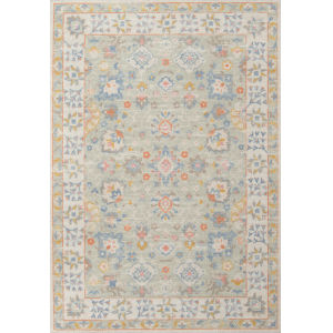 Anatolia Light Blue Rectangular: 5 Ft. 3 In. x 7 Ft. 6 In. Rug