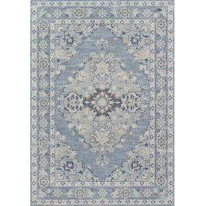 Anatolia Medallion Blue Rectangular: 9 Ft. 9 In. x 12 Ft. 6 In. Rug
