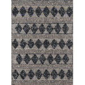 Andes Geometric Charcoal Rectangular: 7 Ft. 9 In. x 9 Ft. 9 In. Rug