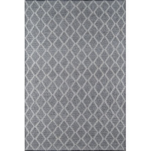 Andes Trellis Geometric Charcoal Runner: 2 Ft. 3 In. x 8 Ft.