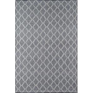 Andes Trellis Geometric Charcoal Rectangular: 6 Ft. x 9 Ft. Rug