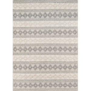 Andes Geometric Ivory Rectangular: 5 Ft. x 7 Ft. Rug