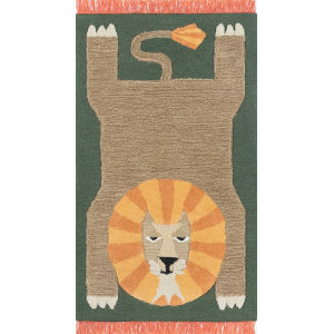 Atticus Lion Rectangular: 3 Ft. x 5 Ft. Rug