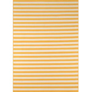 Baja Stripe Yellow Rectangular: 7 Ft. 10 In. x 10 Ft. 10 In. Rug