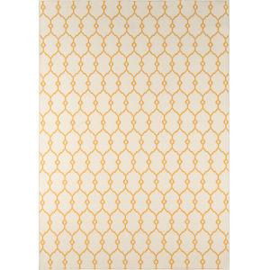 Baja Trellis Yellow Rectangular: 8 Ft. 6 In. x 13 Ft. Rug