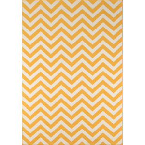 Baja Chevron Yellow Rectangular: 8 Ft. 6 In. x 13 Ft. Rug