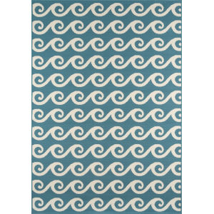 Baja Waves Blue Rectangular: 8 Ft. 6 In. x 13 Ft. Rug