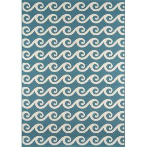 Baja Waves Blue Rectangular: 8 Ft. 6 In. x 13 Ft. Rug