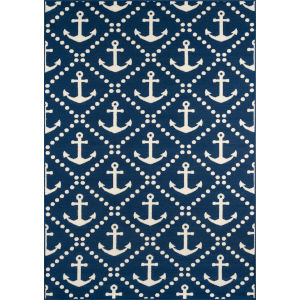 Baja Anchors Navy Rectangular: 8 Ft. 6 In. x 13 Ft. Rug