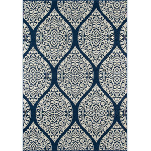 Baja Arabesque Navy Rectangular: 8 Ft. 6 In. x 13 Ft. Rug