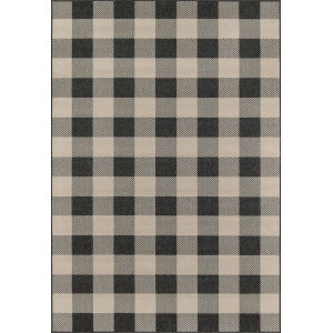 Baja Buffalo Check Charcoal Rectangular: 8 Ft. 6 In. x 13 Ft. Rug