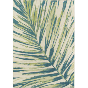 Baja Palm Leaf Green Rectangular: 8 Ft. 6 In. x 13 Ft. Rug