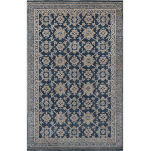 Banaras Blue Rectangular: 5 Ft. 6 In. x 8 Ft. 6 In. Rug