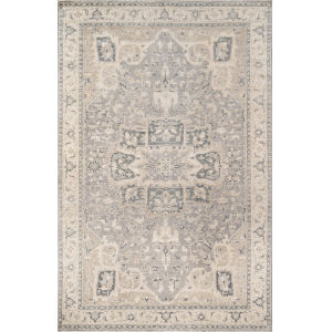 Banaras Gray Rectangular: 5 Ft. 6 In. x 8 Ft. 6 In. Rug