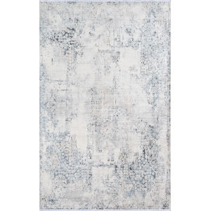 Bergen Abstract Blue Rectangular: 5 Ft. x 8 Ft. Rug