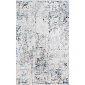 Bergen Blue Abstract Runner: 2 Ft. 6 In. x 10 Ft.