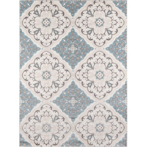 Brooklyn Heights Damask Ivory Rectangular: 7 Ft. 10 In. x 9 Ft. 10 In. Rug