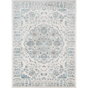 Brooklyn Heights Medallion Ivory Rectangular: 5 Ft. 3 In. x 7 Ft. 6 In. Rug