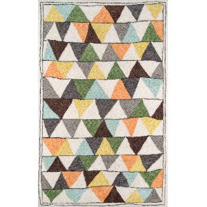 Bungalow Tri Multicolor Rectangular: 5 Ft. x 7 Ft. 6 In. Rug