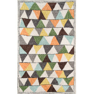 Bungalow Tri Multicolor Rectangular: 7 Ft. 6 In. x 9 Ft. 6 In. Rug
