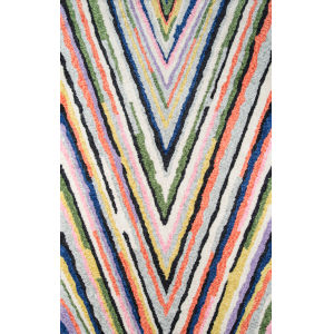 Bungalow Notch Multicolor Rectangular: 7 Ft. 6 In. x 9 Ft. 6 In. Rug