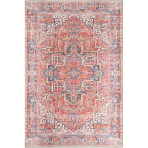Chandler Medallion Red Rectangular: 5 Ft. 6 In. x 8 Ft. 6 In. Rug
