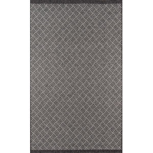 Como Geometric Charcoal Rectangular: 9 Ft. 10 In. x 13 Ft. 2 In. Rug