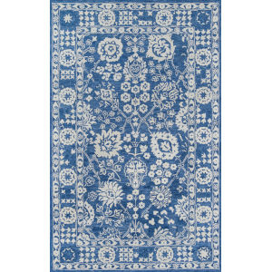 Cosette Oriental Blue Rectangular: 7 Ft. 6 In. x 9 Ft. 6 In. Rug