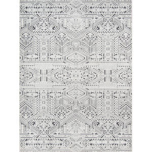 Covington Fair Isle Charcoal Rectangular: 5 Ft. 3 In. x 7 Ft. 6 In. Rug