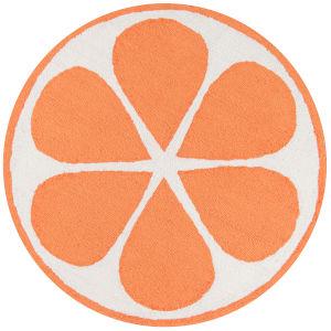 Cucina Orange Round: 3 Ft. x 3 Ft. Round Rug