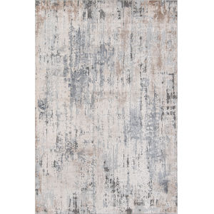 Dalston Gray Abstract Rectangular: 5 Ft. 3 In. x 7 Ft. 6 In. Rug