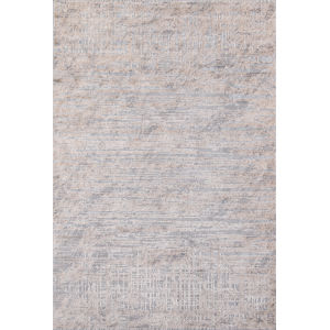 Dalston Abstract Gray Rectangular: 6 Ft. 7 In. x 9 Ft. 6 In. Rug