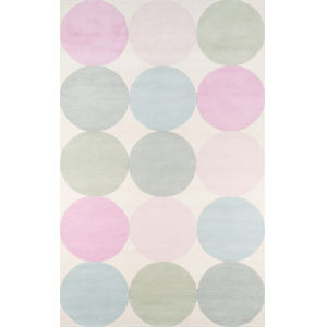 Delmar Agatha Dots Multicolor Rectangular: 5 Ft. x 8 Ft. Rug
