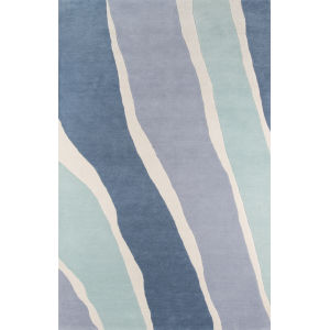Delmar Sorbet Blue Rectangular: 8 Ft. x 10 Ft. Rug