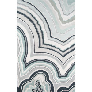 Delmar Agate Blue Rectangular: 8 Ft. x 10 Ft. Rug