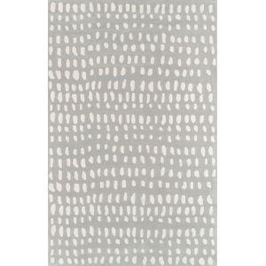 Delmar Boho Dots Gray Rectangular: 9 Ft. x 12 Ft. Rug