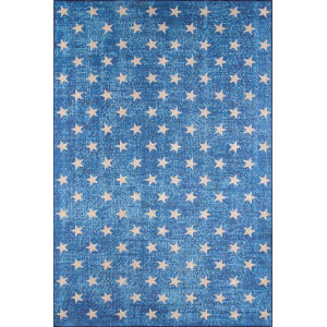 District Blue Rectangular: 7 Ft. 6 In. x 9 Ft. 6 In. Rug