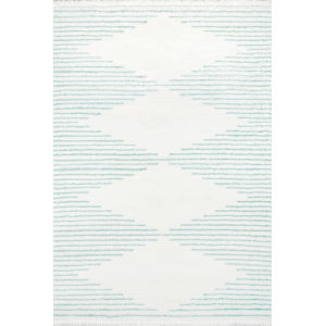 Ferris Aqua Rectangular: 9 Ft. 10 In. x 12 Ft. 10 In. Rug