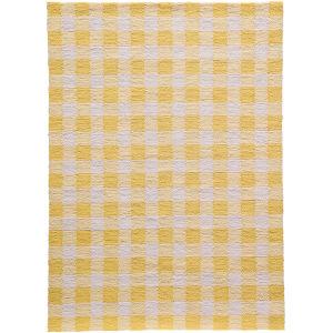 Geo Yellow Rectangular: 3 Ft. 6 In. x 5 Ft. 6 In. Rug