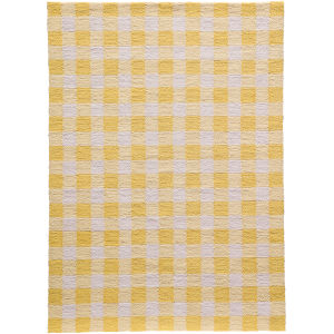 Geo Yellow Rectangular: 5 Ft. x 7 Ft. Rug