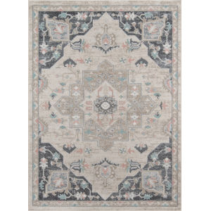 Haley Medallion Multicolor Rectangular: 9 Ft. 3 In. x 12 Ft. 6 In. Rug
