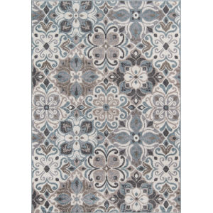 Haley Floral Gray Rectangular: 9 Ft. 3 In. x 12 Ft. 6 In. Rug
