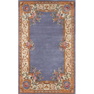 Harmony Floral Blue Rectangular: 3 Ft. 6 In. x 5 Ft. 6 In. Rug