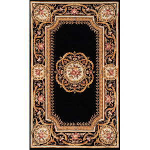 Harmony Black Rectangular: 3 Ft. 6 In. x 5 Ft. 6 In. Rug