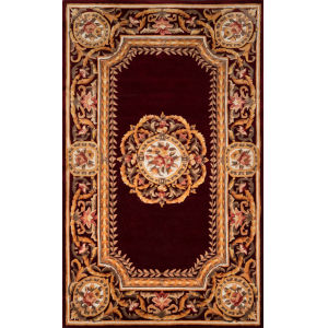 Harmony Burgundy Rectangular: 3 Ft. 6 In. x 5 Ft. 6 In. Rug