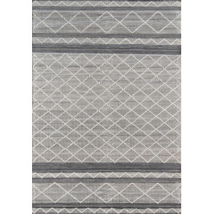 Hermosa Geometric Gray Rectangular: 7 Ft. 9 In. x 9 Ft. 9 In. Rug