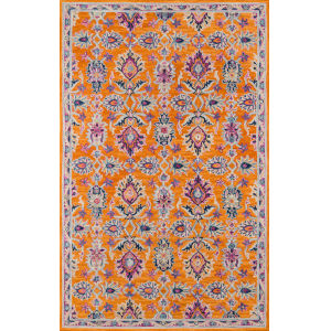 Ibiza Oriental Orange Rectangular: 8 Ft. x 10 Ft. Rug