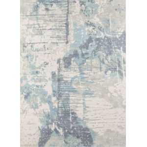 Illusions Abstract Blue Rectangular: 7 Ft. 6 In. x 9 Ft. 6 In. Rug